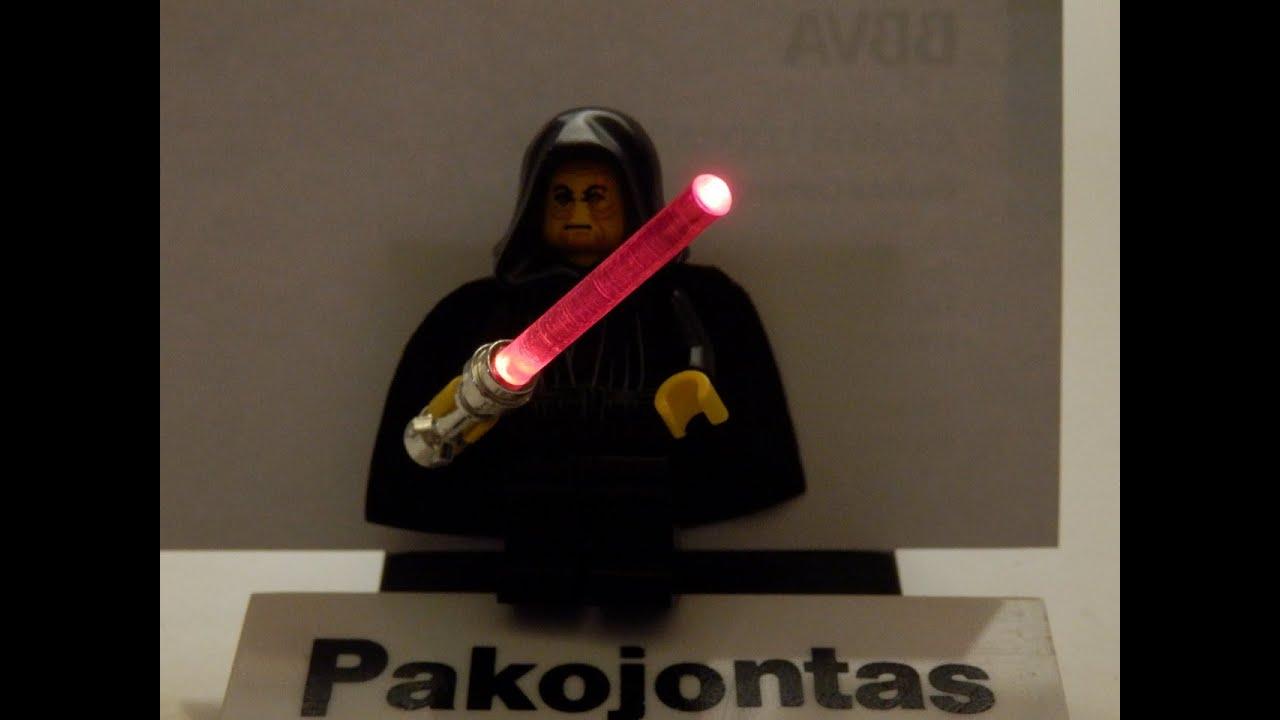 "Lego Star Wars E. PALPATINE & DARTH VADER ""custom light"