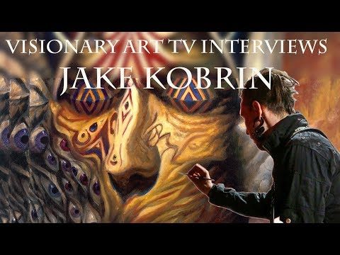 San Francisco artist, Jake Kobrin, shares some glorious art info with Visionary Art TV