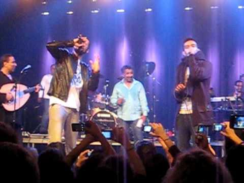 Khaled and Outlandish singing Aicha - Stor Vega, Copenhagen.