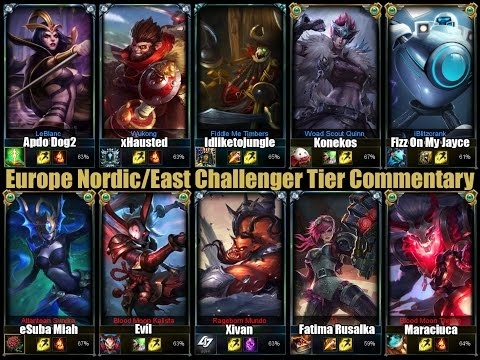 League of Legends Europe Nordic East Challenger Solo Queue Full Gameplay Commentary #2 [Patch 4.21]