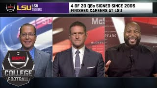 Why LSU is 'the Cleveland Browns of college football' as far as QBs | College Football Live | ESPN