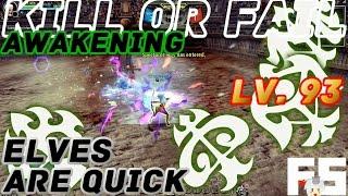 Dragon Nest PvP : Elves are Quick Awakening KOF Lv. 93 KDN Spec Mode.