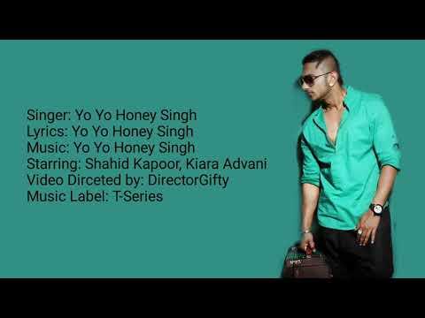 Urvashi lyrics | Shahid Kapoor | Yo Yo Honey Singh | Bhushan Kumar | Urvashi Full song lyrics