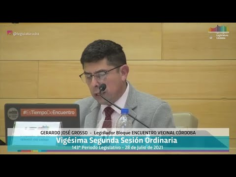 Vigésima Segunda Sesión Ordinaria 143 Periodo Legislativo -  28 de Julio 2021