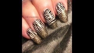 Animal Print/stamped Nail Art