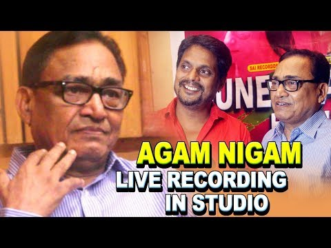 LIVE IN RECORDING STUDIO - AGAM KUMAR NIGAM - GUNEHGAAR HO TUM - MAKING VIDEO - SAI RECORDDS