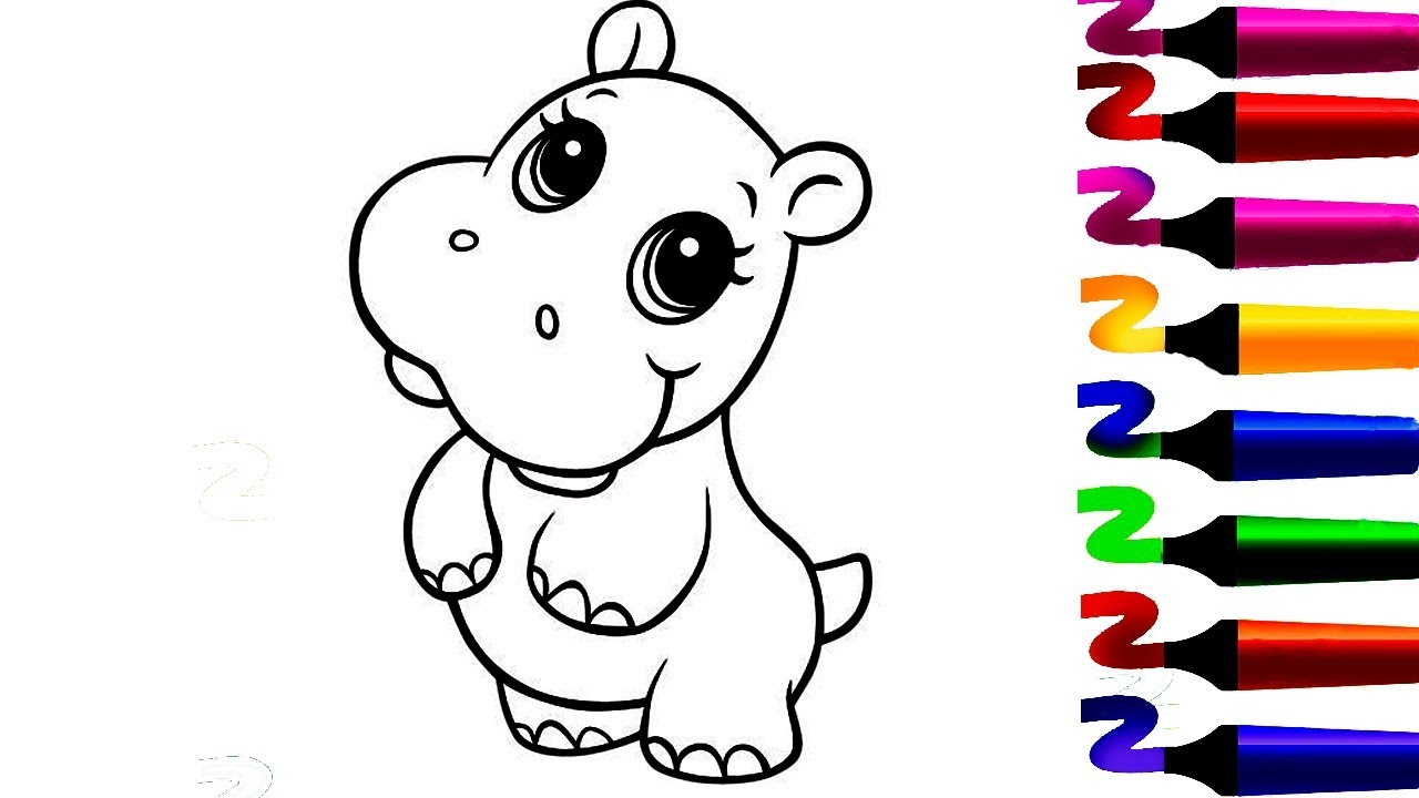 Coloriage Bebe Hippopotame.Coloriage Hippopotame Coloriage Magique Comment Colorier Et
