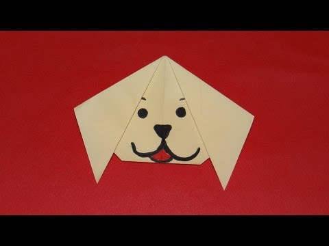 How to make easy origami dog - paper dog face step by step - YouTube | 360x480