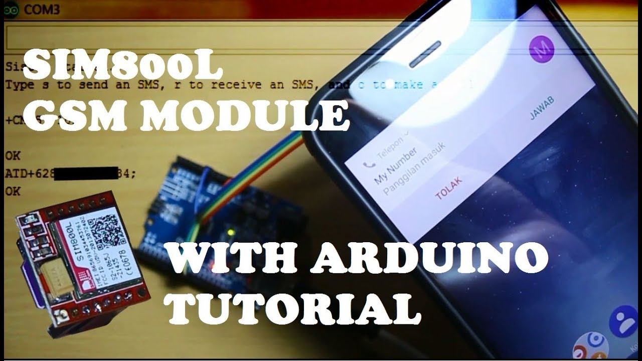 SIM800L with arduino Tutorial  How to send, receive SMS and make a call