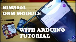 SIM800L with arduino Tutorial. How to send, receive SMS and make a call. Video