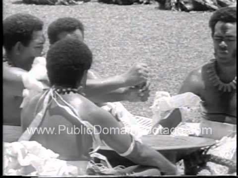 Queen Elizabeth takes Royal Tour of Fiji and participates in Ceremony 1963 newsreel archival footage