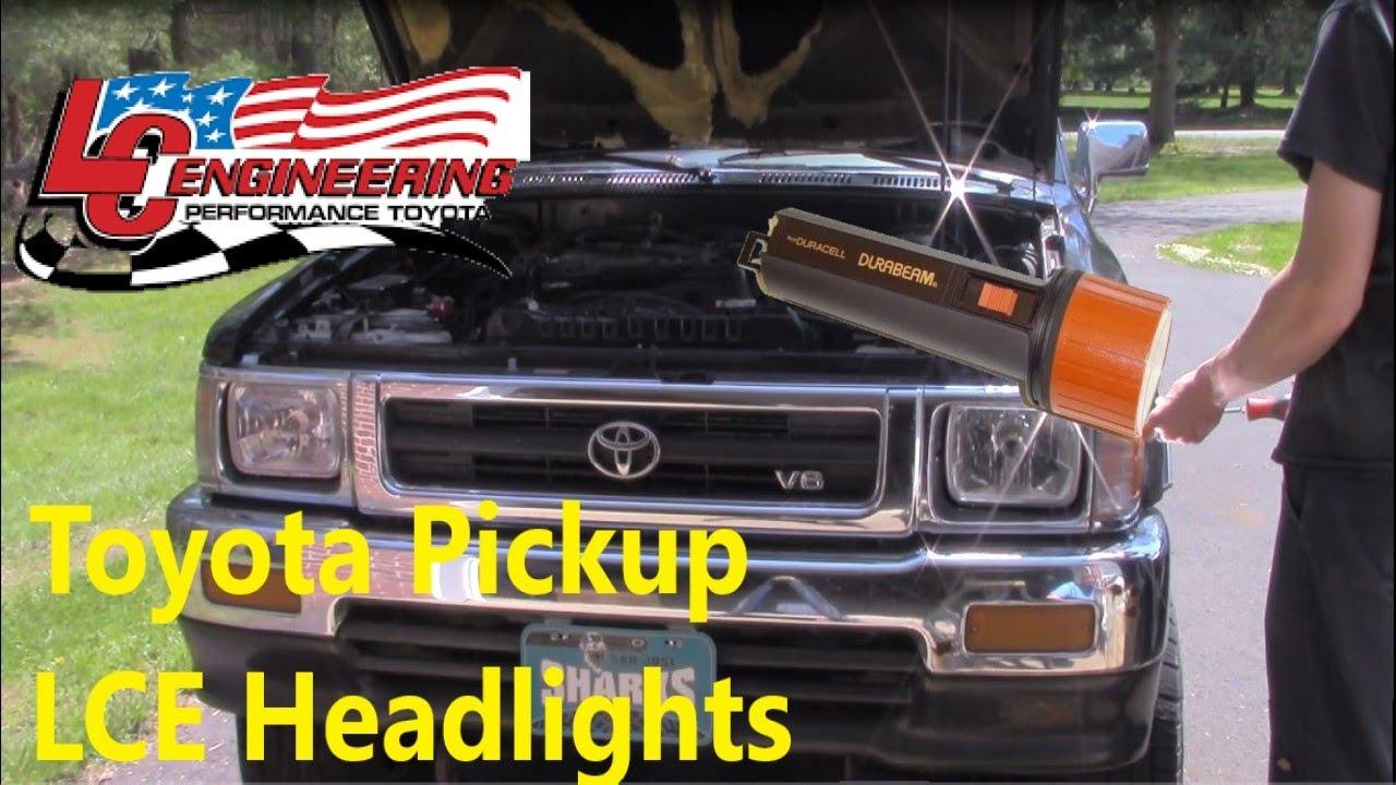 Toyota Pickup LCE Headlight H4 Conversion Kit Install