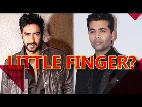 Did Ajay Devgan Just Compare Karan Johar To His Little Finger? | Bollywood News