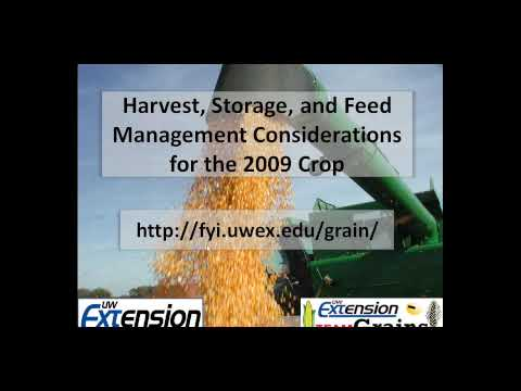 Harvest, Storage, and Feed Management Considerations for the 2009 Crop