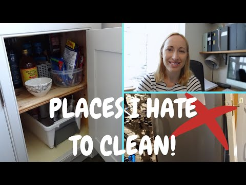 PLACES IN MY HOME I HATE TO CLEAN! | CLEANING OUT THE FREEZER AND CUPBOARD