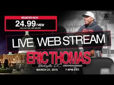 LIVE WEB STREAM!! GREATNESS SESSION in DC w/ ET & CJ