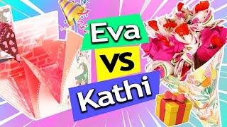 GEBURTSTAGSGESCHENKE IDEEN schnell & einfach basteln DIY | Eva vs. Kathi Sonntagschallenge #126