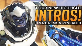 Overwatch: NEW Highlight Intros! D.Va Cat Skin! - Mercy NERF Coming?!