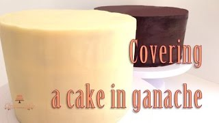 How To Cover A Cake In Ganache From Creative Cakes By Sharon