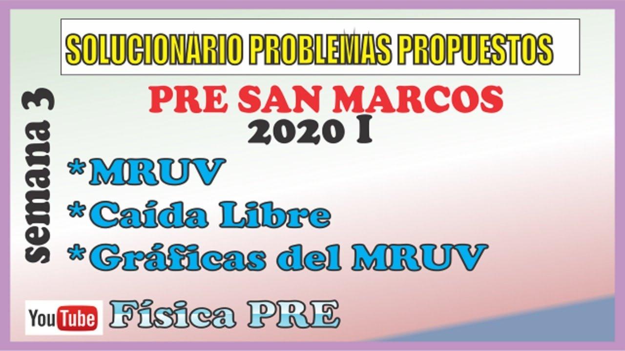 En VIVO :Solucionario Semana 3 (PRE San Marcos)