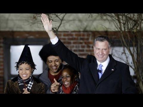Bill de Blasio Sworn in as 109th Mayor of New York City