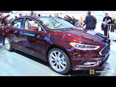 2017 Ford Fusion Platinum - Exterior and Interior Walkaround - 2016 Detroit Auto Show