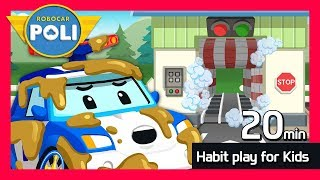 Habit play for Kids | 20min | Robocar Poli Game