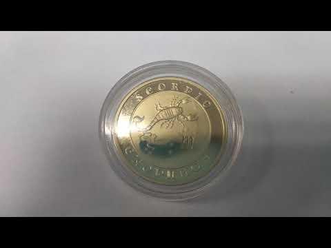 Золотая монета Армении. 10000 драм 2008 года. Скорпион