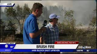 Crews battling wildfire near Upriver Drive; evacuations underway