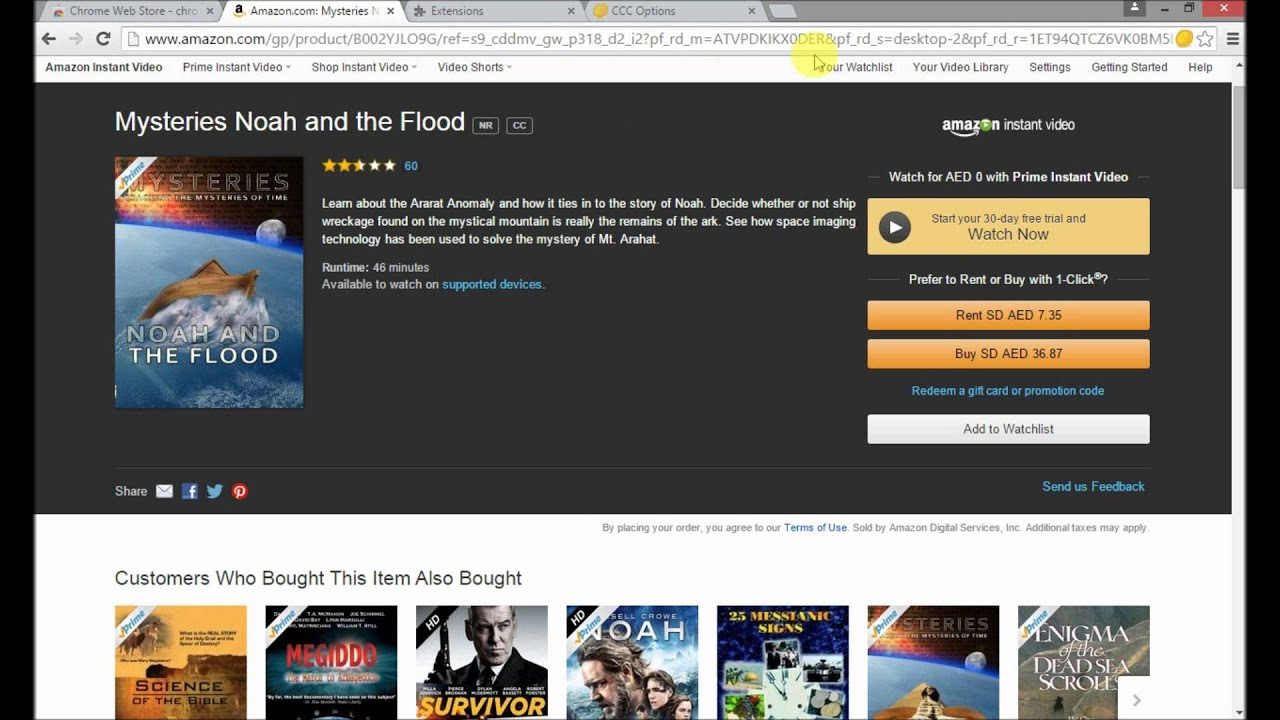 amazon video chrome extension