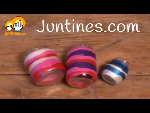 Tarros decorados con globos, una manualidad ideal para una fiesta