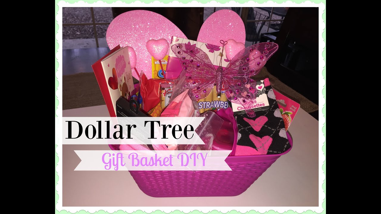 2016 DOLLAR TREE Valentines Day Gift Basket YouTube