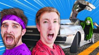 CHAD & DANIEL vs PZ9 in DeLorean Car! Win Hacker Challenges to Escape, Save Vy & Regina in 24 Hours!