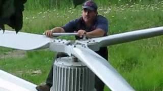 Making of a Redriven wind turbine Part 2a.wmv