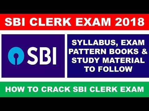 SBI CLERK 2017 Exam Notification, Exam Pattern, Books and Syllabus