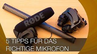 5 Tipps für das richtige Mikrofon