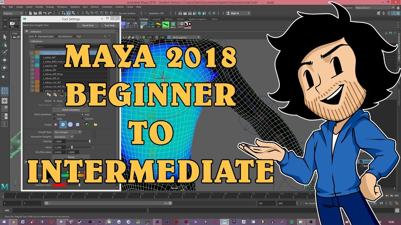 Maya 2018 From Beginner To Intermediate Edge Loop Ngon Bridge