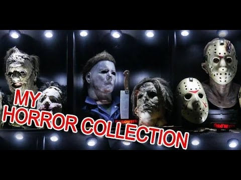 My Horror Slasher life size busts/masks display set up COLLECTION !!