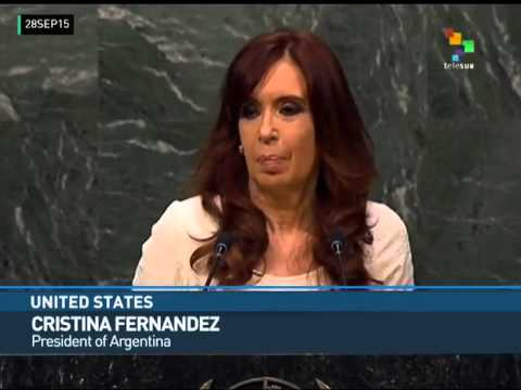 USA: Cristina Fernandez Questions Financing of World Conflicts