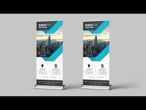How To Make A Roll Up Banner - Photoshop Tutorial
