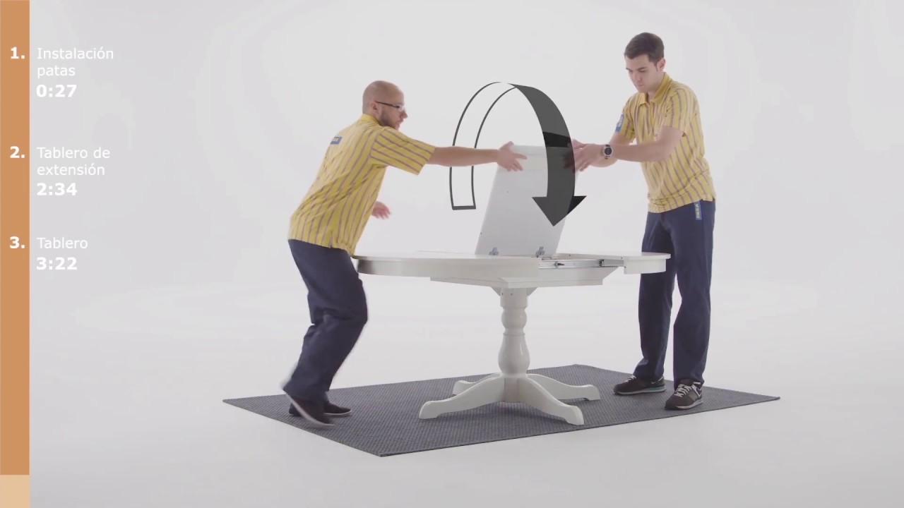 Ikea Ingatorp Rund.Extendable Table Ingatorp White