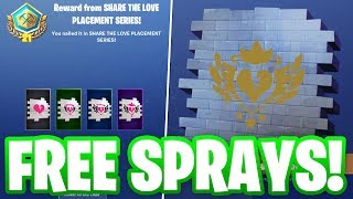 "HOW TO GET THE EXCLUSIVE ""SHARE THE LOVE EVENT"" SPRAYS IN FORTNITE!"