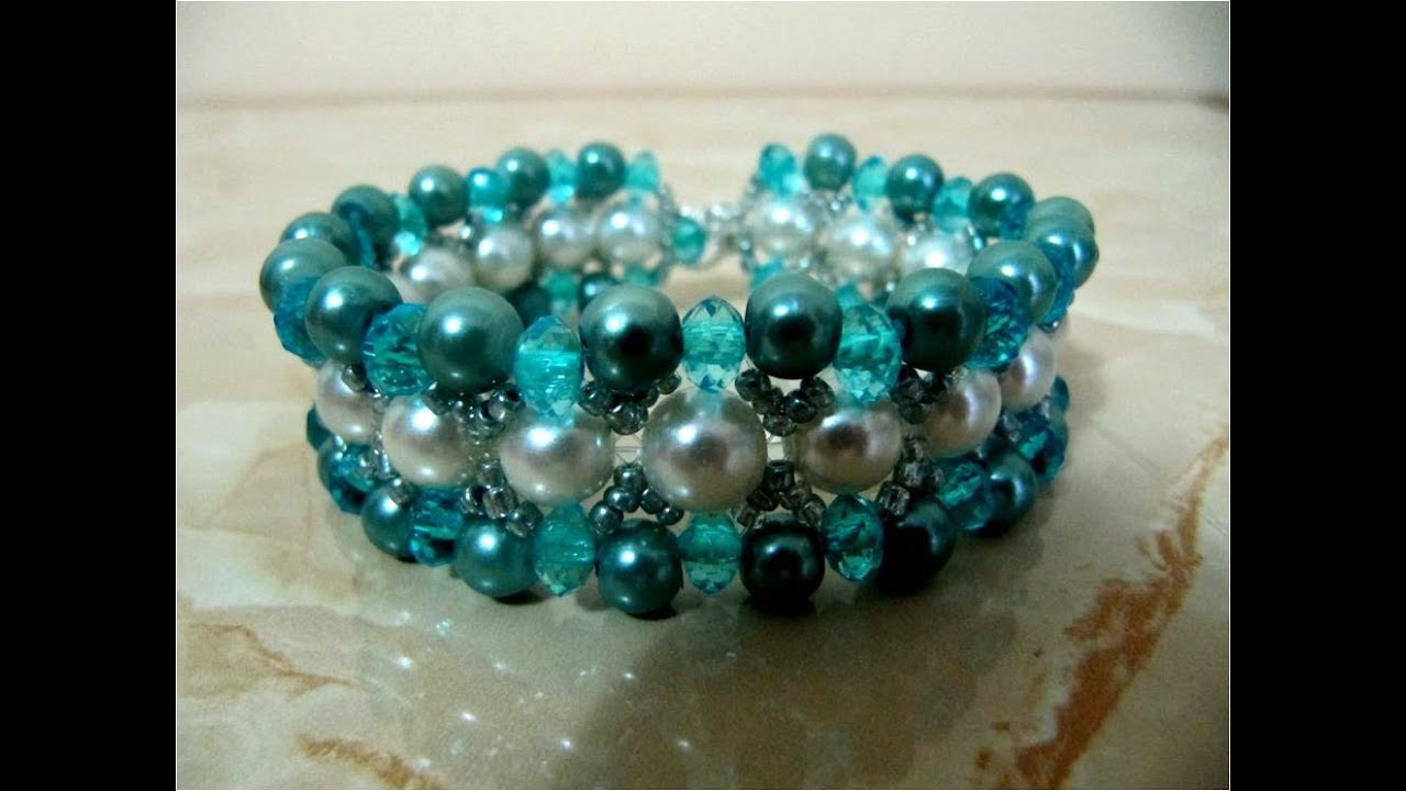 DIY accesorios de moda pulseras ,fashion accessories bracelets with stones and pearls , YouTube