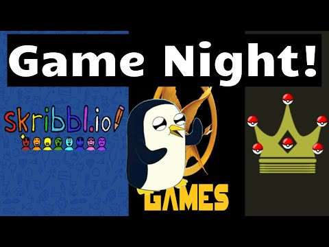 Game Night! || Finishing Up the Showdown Tournament, Hunger Games Series 2 FINALE, and Skribbl.io!