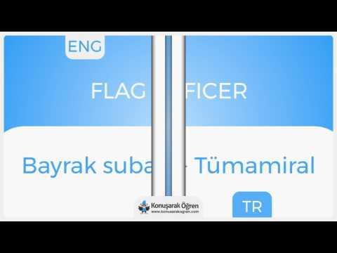 Flag officer Nedir? Flag officer İngilizce Türkçe Anlamı Ne Demek? Telaffuzu Nasıl Okunur?