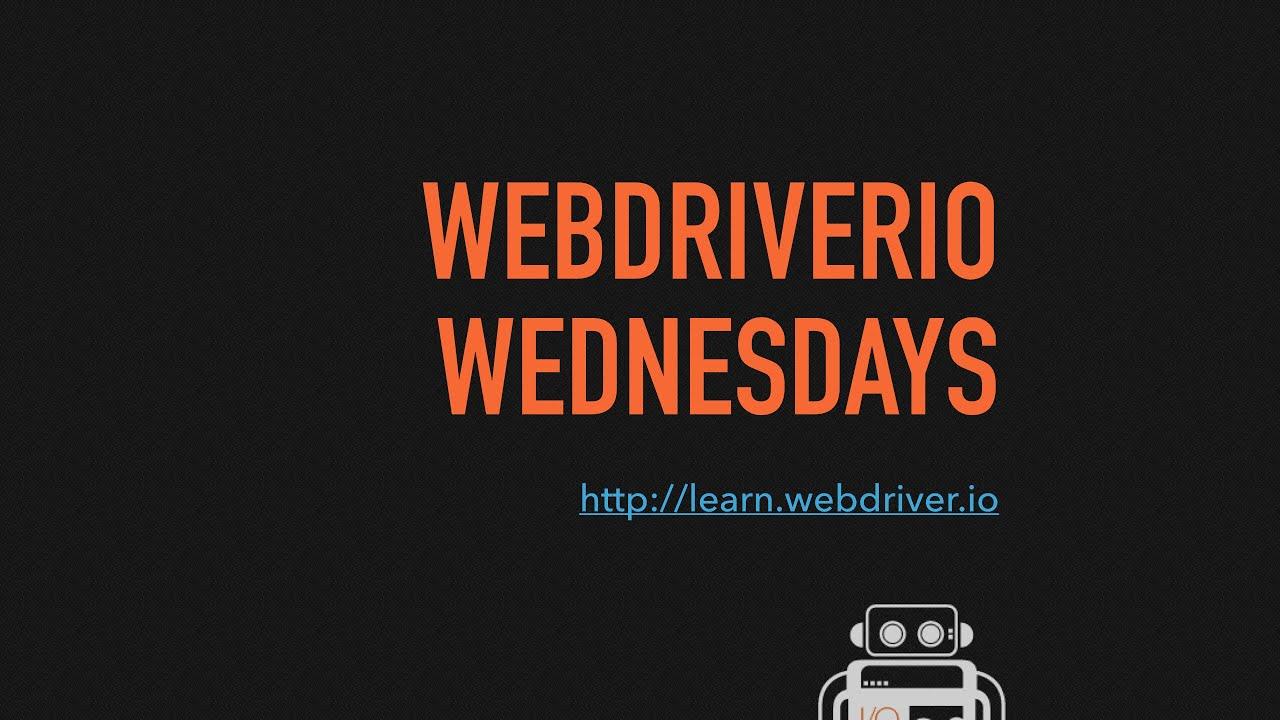 Jenkins integration - WebdriverIO Wednesdays - YouTube