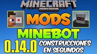 Construcciones En Segundos - Minebot - Minecraft Pe 0.14.0 - Mods - Descarga