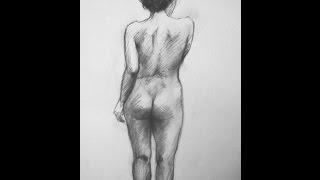 Desnudos al carboncillo - Dibujos - Miguel Esquivel Kuello