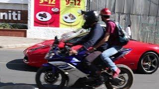 Can you catch a FAST Ferrari on a Bike in India ?? #RSMSpec