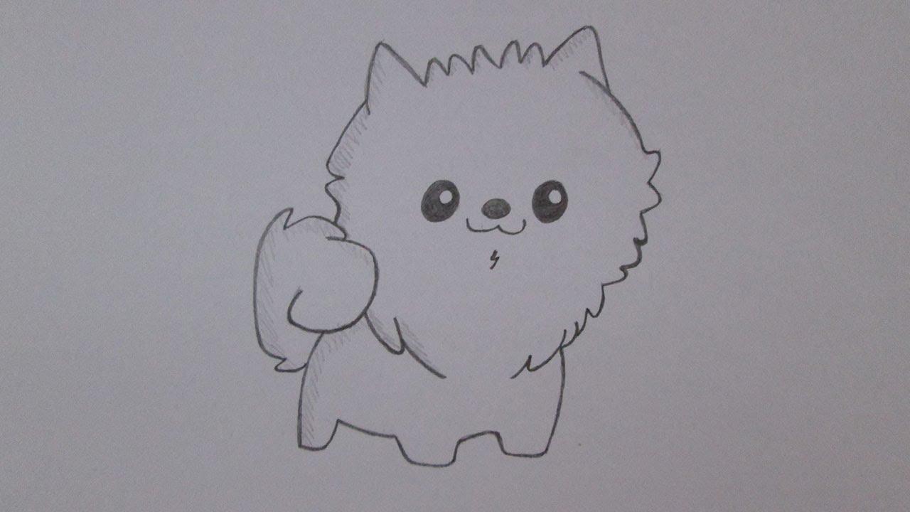 Como Desenhar Um Cachorro Spitz Alemão